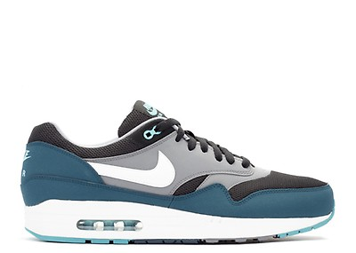Air Max 1 Essential WhiteMercury GreyGorge Green (537383