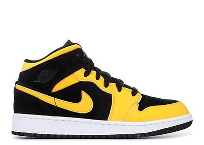 e341c8fe136c Jordan 1 Mid Bp - Nike - 640734 035 - black varsity maize-white ...