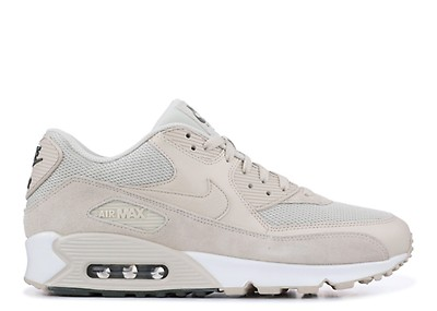 NIKE AIR MAX 90 ESSENTIAL MEN'S SHOE LIGHT BONEBLACKPURE