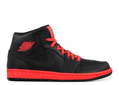 86105fe1977 Air Jordan 1 Mid - Air Jordan - bq6578 001 - black/university red ...