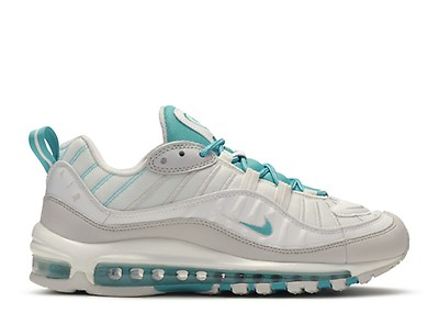 Women's Nike Air Max 98 Premium CI1901 102 WhiteTeal Nebula