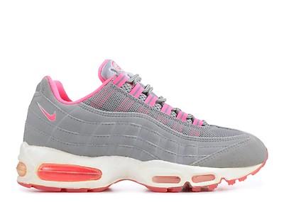 Womens Air Max 95 - Nike - 698014 113 - white white-flash-flame red ... 60414b8eb