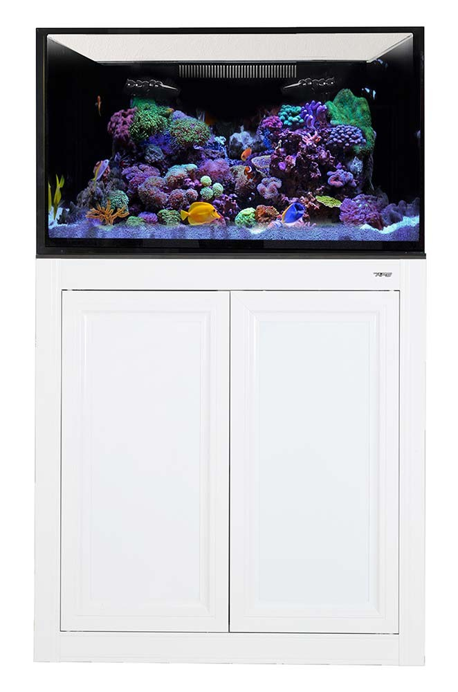 NUVO EXT 112 Gallon External Overflow Aquarium w/ Stand (White) - Innovative Marine
