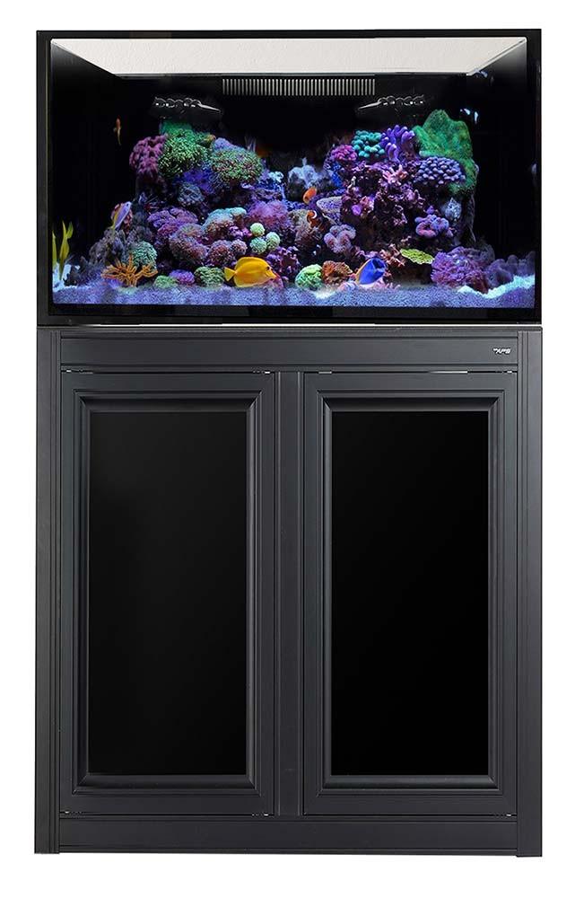 NUVO EXT 112 Gallon External Overflow Aquarium w/ Stand (Black) - Innovative Marine