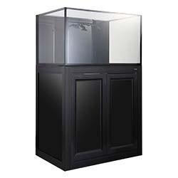 NUVO INT-75 Internal Overflow Aquarium - 75 Gallon with APS Cabinet Stand (Black) - Innovative Marine