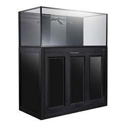 NUVO INT-100 Internal Overflow Aquarium - 100 Gallon with APS Cabinet Stand (Black) - Innovative Marine