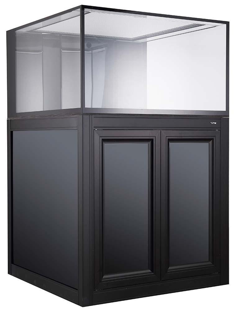 NUVO INT-112 Internal Overflow 112 Gallon Aquarium with APS Cabinet Stand (Black) - Innovative Marine