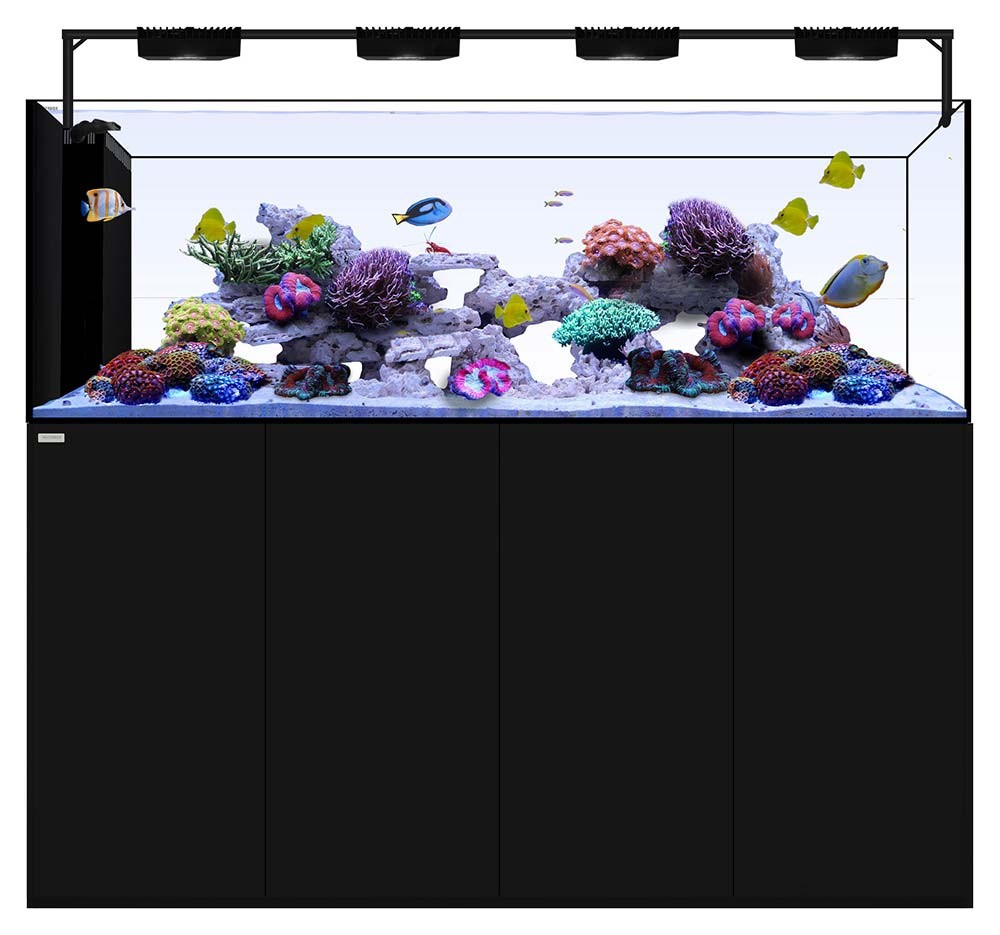 Peninsula 7225 +Plus HD Edition (Black) - 228 Gallons with AI Hydra 32HD LED Lighting - Waterbox Aquariums