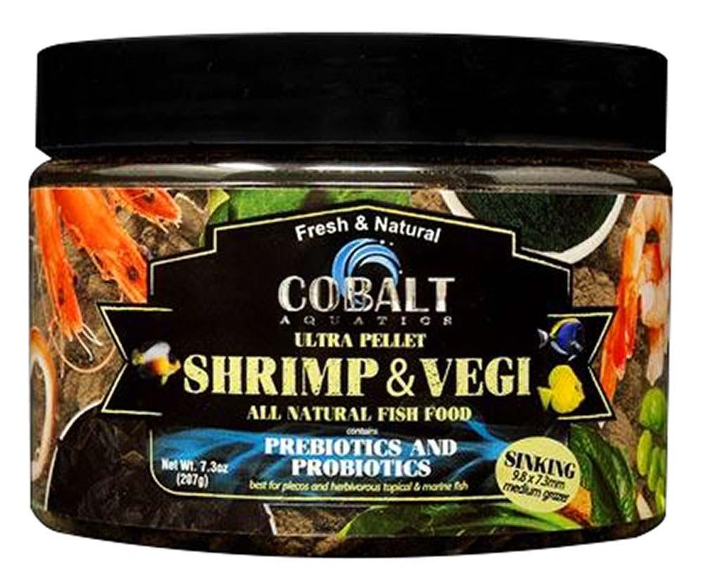 ULTRA Shrimp and Vegi Medium Grazer 9.8x7.3mm Sinking Pellet 7.3 oz - Cobalt Aquatics