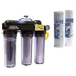 AquaFX Barracuda Glacial RO/DI System with FREE Pre-filter Set - 100 GPD