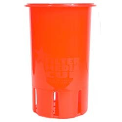 High Flow Flexible Filter Media Cup - 4 inch - Coral Red