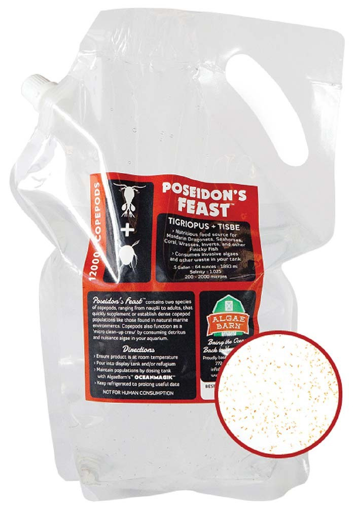 Poseidon's Feast - 12000+ Live Two Species Copepods 64 oz Mix (Tiger & Tisbe) - Algae Barn