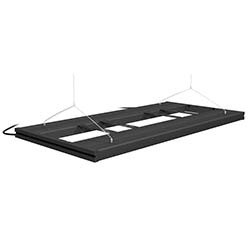 Aquatic Life T5 Hybrid 36 Inch Fixture w/ LED Mounting System and Decor Endcaps (Black)