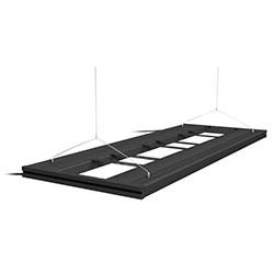 Aquatic Life T5 Hybrid 48 Inch Fixture w/ LED Mounting System and Decor Endcaps (Black)