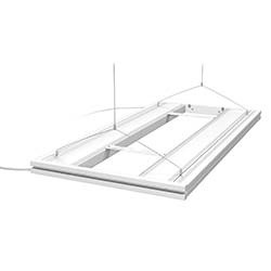 Hybrid T5 Light 36 Inch Fixture with LED Mounting System - White - Aquatic Life