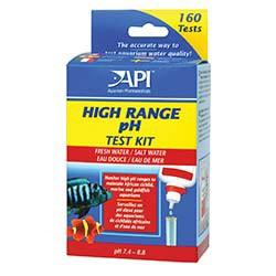 API Freshwater/Saltwater High Range pH Test Kit, Test kit of 250 tests
