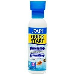 Quick Start Beneficial Bacteria Freshwater and Saltwater Tank Starter (4 oz.) - API