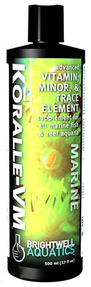 Brightwell Aquatics Koralle-VM - Vitamin & Mineral Supplement for Corals, Clams, etc. 500ml / 17oz
