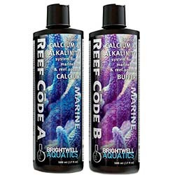Reef Code 2-Part Balanced Calcium & Alkalinity System 34oz (17oz each bottle) - Brightwell Aquatics