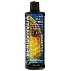 Brightwell Aquatics Vitamarin-M - Multivitamin Supplement for all Marine Aquaria 250mL / 8.5oz