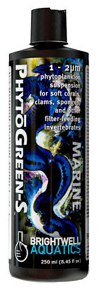 Brightwell Aquatics PhytoGreen-S Green Phytoplankton (Small) 1-2 micron 250mL / 8.5oz
