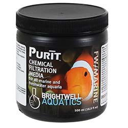 Brightwell Aquatics Purit Complete Chemical Media for Marine and Freshwater (500ml)