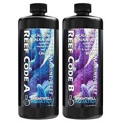 Reef Code 2-Part Balanced Calcium & Alkalinity System 68oz (34oz each bottle) - Brightwell Aquatics