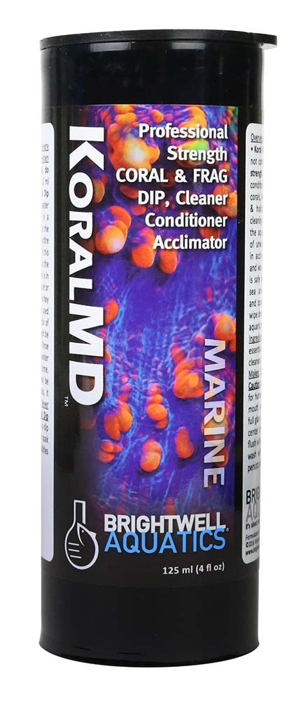 125ml Koral MD Coral and Frag Dip Cleaner Professional Strength - Brightwell Aquatics