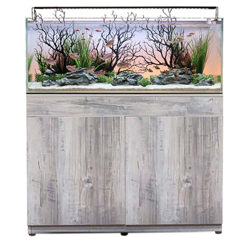 Current USA Serene 65 Gallon Aquarium - Complete Audio-Visual System w/ Stand & Manzanita Aquascaping Kit