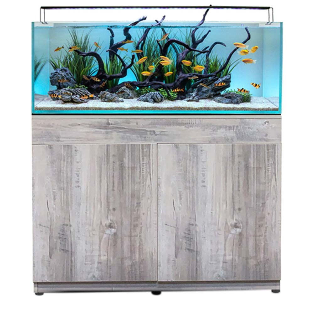 Current USA Serene 65 Gallon Aquarium - Complete Audio-Visual System w/ Stand & Riverwood Aquascaping Kit
