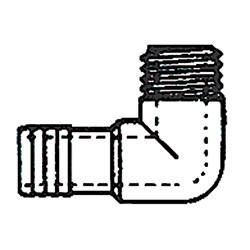 Insert Elbow Fitting - 1 inch MPT x 1 inch Insert