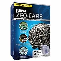 Fluval Zeo-Carb Filter Media, 150 gram (3/pk nylon bags)