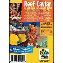 V2O Aquarium Foods Reef Caviar Frozen Aquarium Food Cubes - 100g