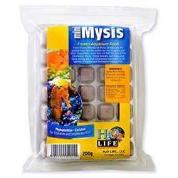 V2O Aquarium Foods Mini Marine Mysis Shrimp Frozen Blister Packed Cubes - 200 Gram
