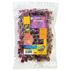 V2O Aquarium Foods Bloodworms Bulk 1lb Loose Cubes