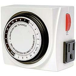 Hamilton Dual Outlet Grounded Analog Timer