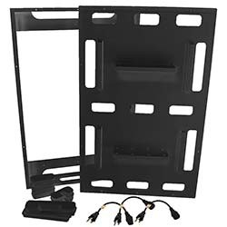 Deluxe Aquarium Controller Board Mounting System with French Cleat and Power Cords (Black) - Marine Depot