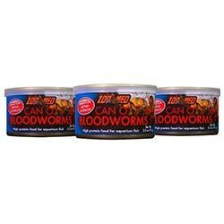 Zoo Med Can O' Bloodworms Fish Food 3.2 oz - 3 Pack