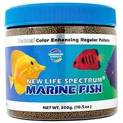 NLS Color Enhancing Marine Fish Formula 1 to 1.5mm Sinking Pellet Food (300g) - New Life Spectrum