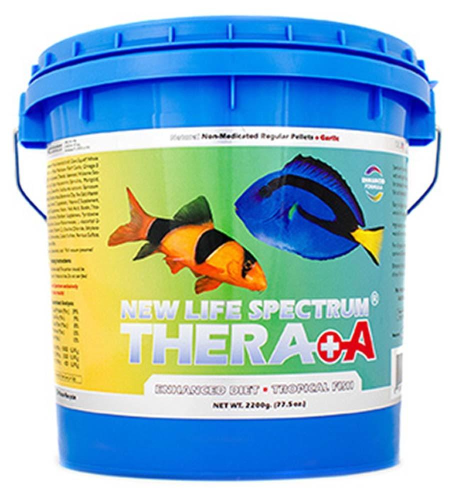NLS Enhanced Diet Thera+A 1 to 1.5mm Regular Sinking Pellet Food (2200g) - New Life Spectrum
