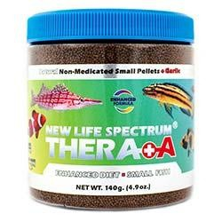 NLS Enhanced Diet Thera+A 0.5 to 0.75mm Small Sinking Pellet Food (140g) - New Life Spectrum