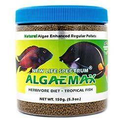 NLS Herbivore Diet AlgaeMAX 1 to 1.5mm Sinking Pellet Food (150g) - New Life Spectrum