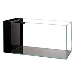 Lifegard Aquatics CRYSTAL Aquarium 45 Degree Low Iron Ultra Clear - 7.4 Gallon (with Built-In Side Filter)