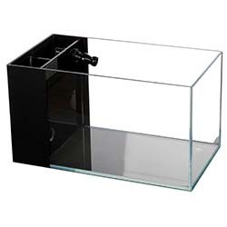 Lifegard Aquatics CRYSTAL Aquarium 45 Degree Low Iron Ultra Clear - 3.8 Gallon (with Built-In Side Filter)
