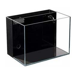 Lifegard Aquatics CRYSTAL Aquarium 45 Degree Low Iron Ultra Clear - 4.1 Gallon (with Built-In Back Filter)