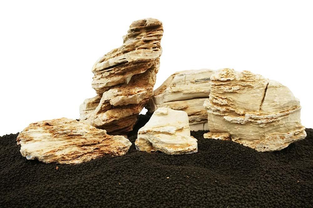 Crema Textured Stone Freshwater Rocks - Small Set - Lifegard Aquatics