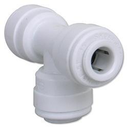 JG 1/4 inch Union Tee - White