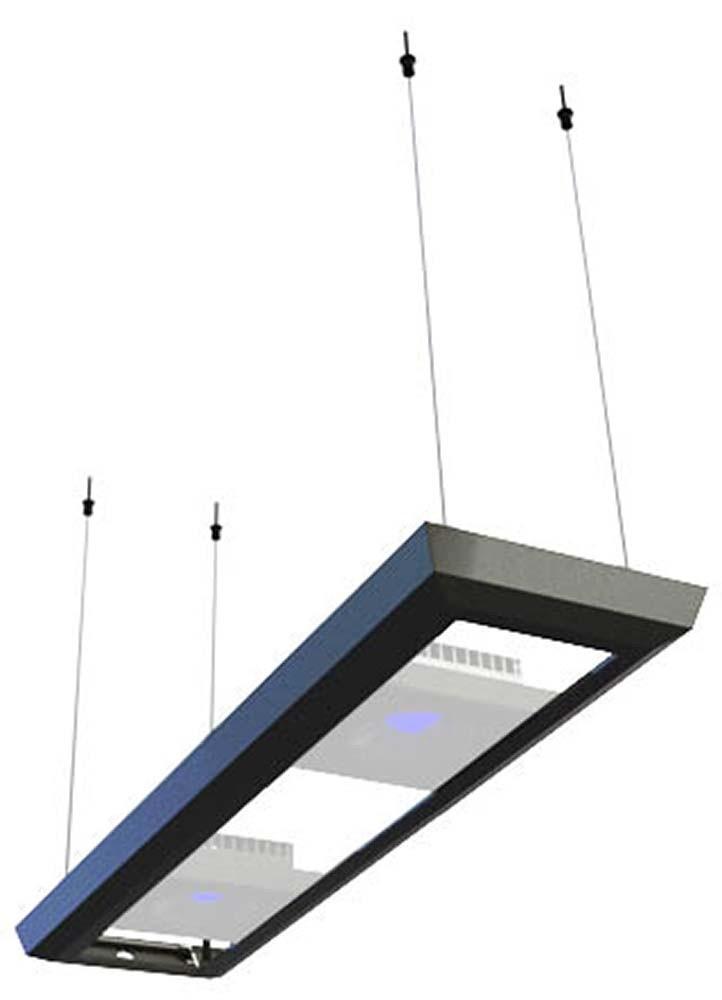 ReefLED RL90 Pendant Hanging Kit (Black) for 30 - 38 Inch Long Tanks - Red Sea