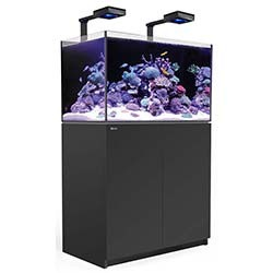 Red Sea Reefer 250 Deluxe Aquarium w/ ReefLED 90 Lights - 54 Gallon (Black)