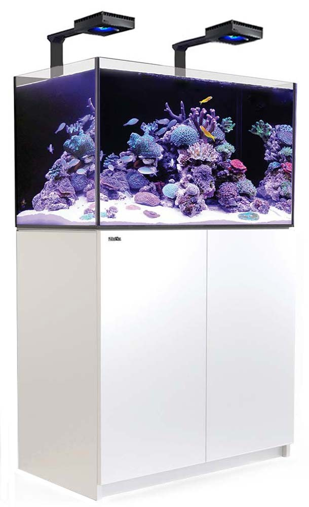 Red Sea Reefer 250 Deluxe Aquarium w/ ReefLED 90 Lights - 54 Gallon (White)